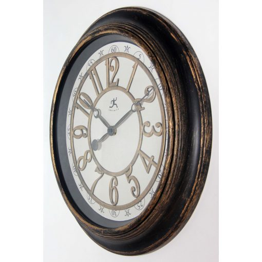left side view of harbor brown rustic wall clock
