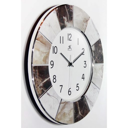 right side view of modern marble office clock cheap 16 inch