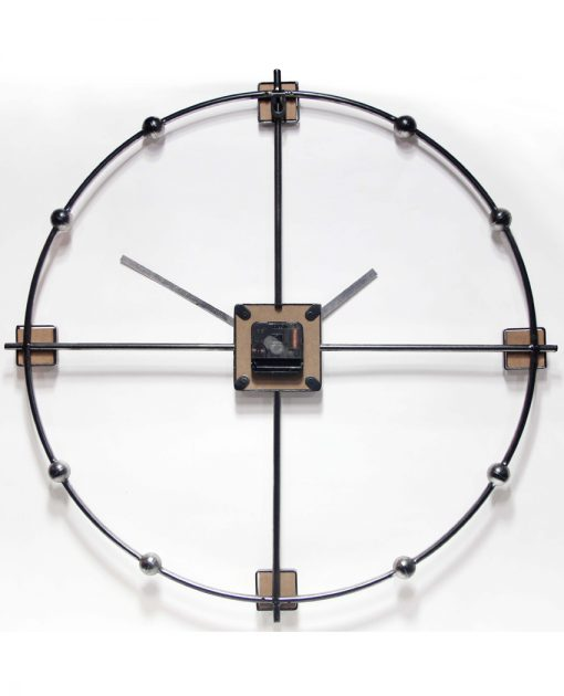 back of odyssey wall clock mid century modern view