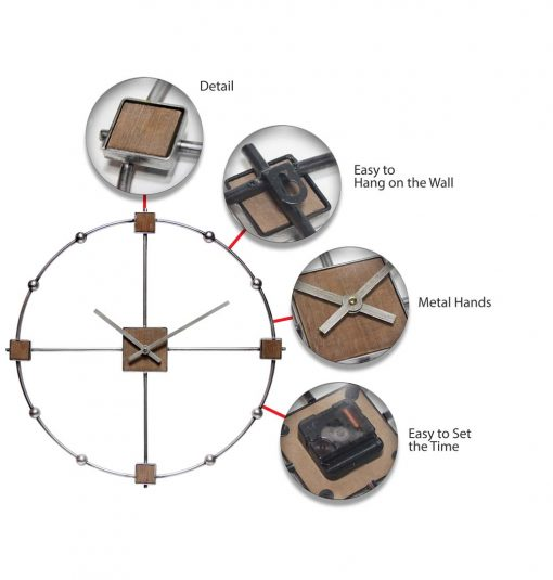 features of large modern odyssey wall clock