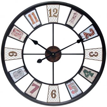 kaleidoscope front large wall clock
