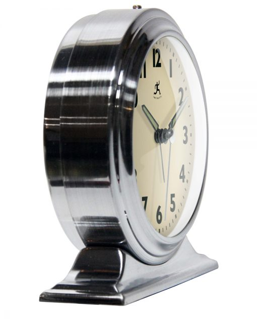 from right side boutique silver table top clock