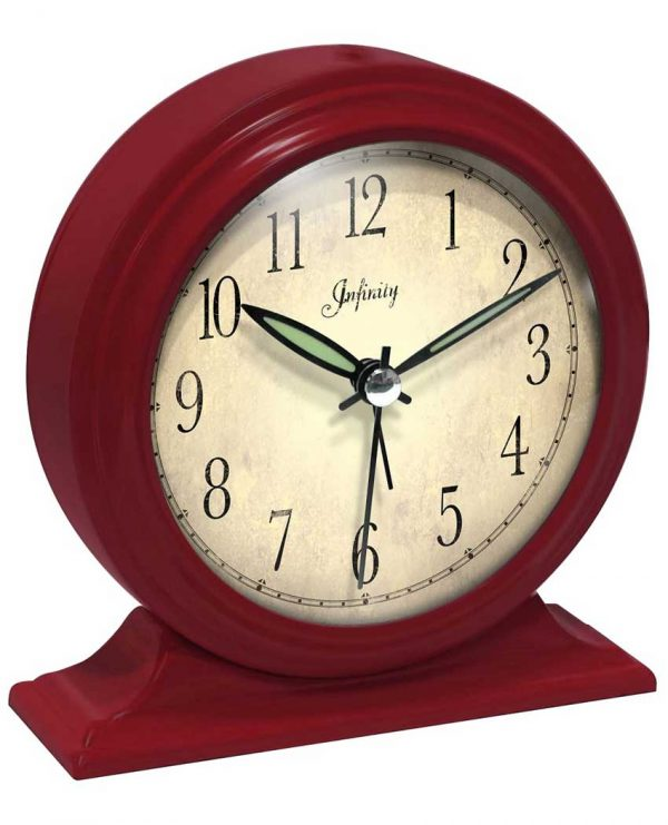 5.75 inch Boutique Red; Red Tabletop Clock