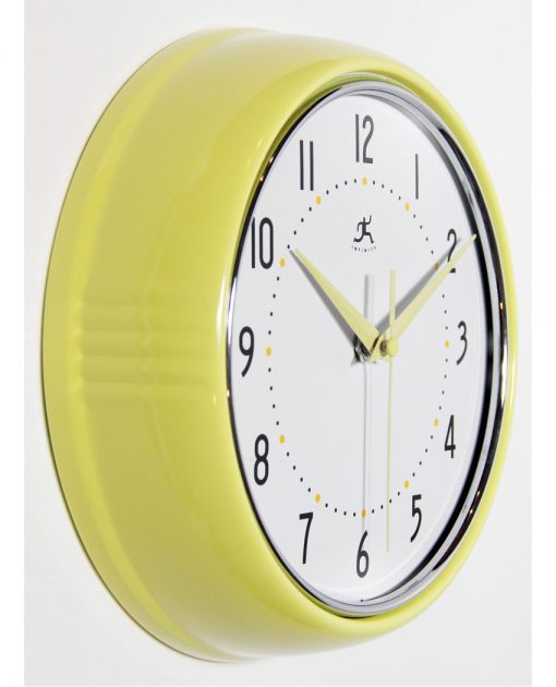 from right side yellow wall clock 9 inch