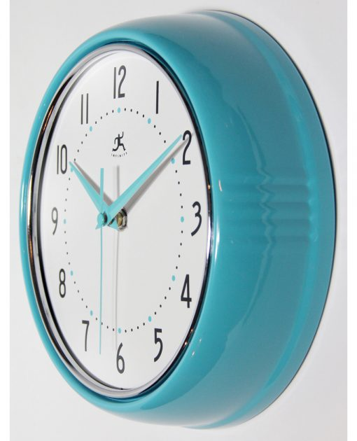 from left side retro wall clock 9 inch