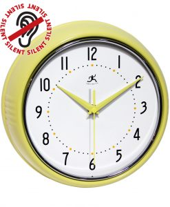 9.5 inch Retro Yellow Aluminum Wall Clock