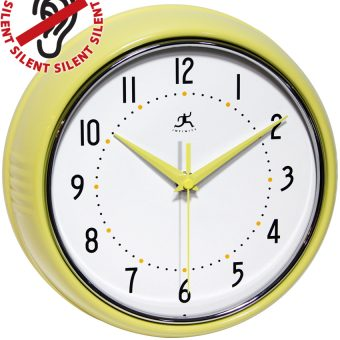 9.5 inch Retro Yellow Aluminum Wall Clock