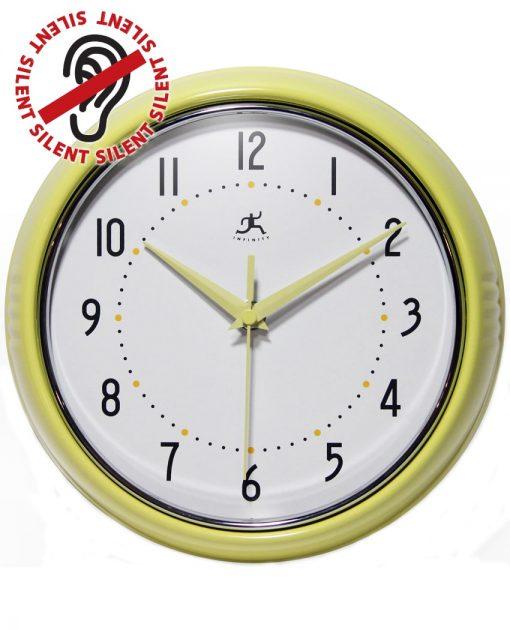 Yellow Round Retro Wall Clock kitchen