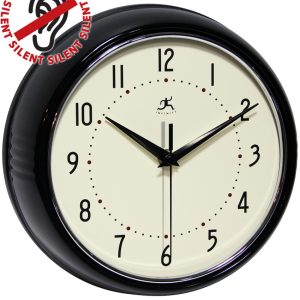 9.5 inch Retro Black; a Black Aluminum Wall Clock