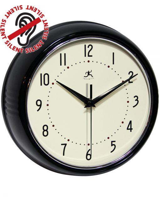 9.5 inch Retro Black; a Black Aluminum Wall Clock