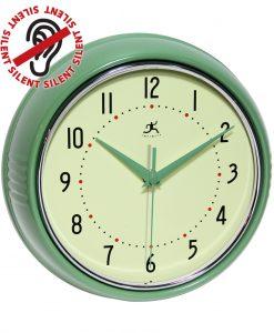 8.5 inch Retro Diner Green Steel Wall Clock