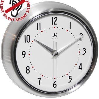 9.5 inch Retro Silver Aluminum Wall Clock