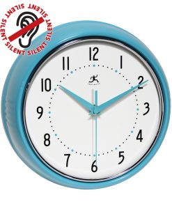 9.5 inch Retro Turquoise Aluminum Wall Clock