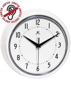 9.5 inch Retro White Aluminum Wall Clock