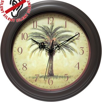 12 inch The Cabana; a Brown Resin Wall Clock