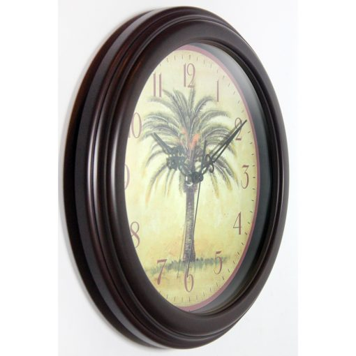 from right side cabana palm tree wall clock 12 inch