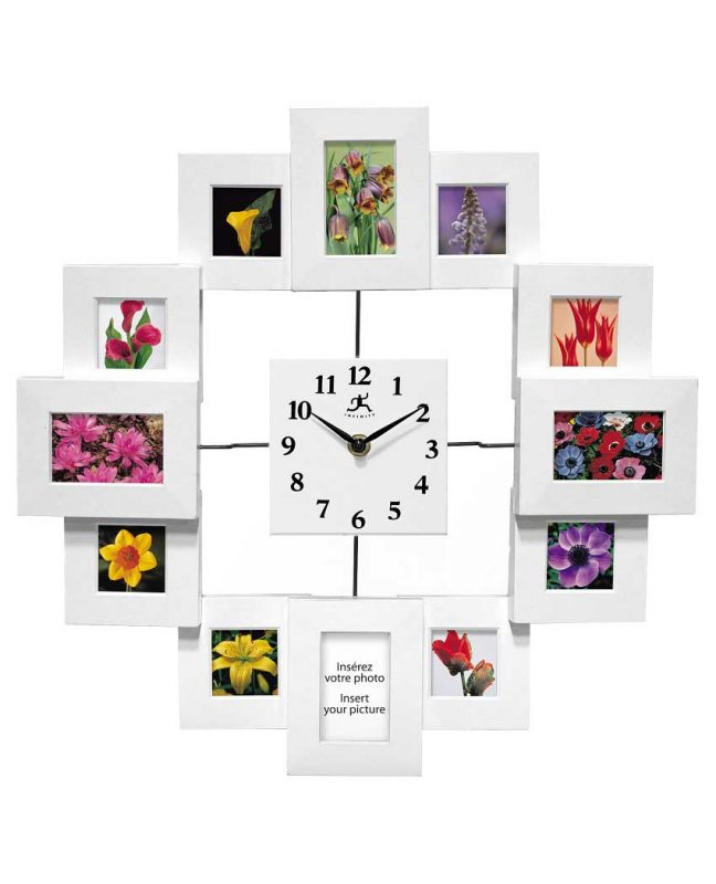 15.75 inch Time Capsule; a White Resin Wall Clock