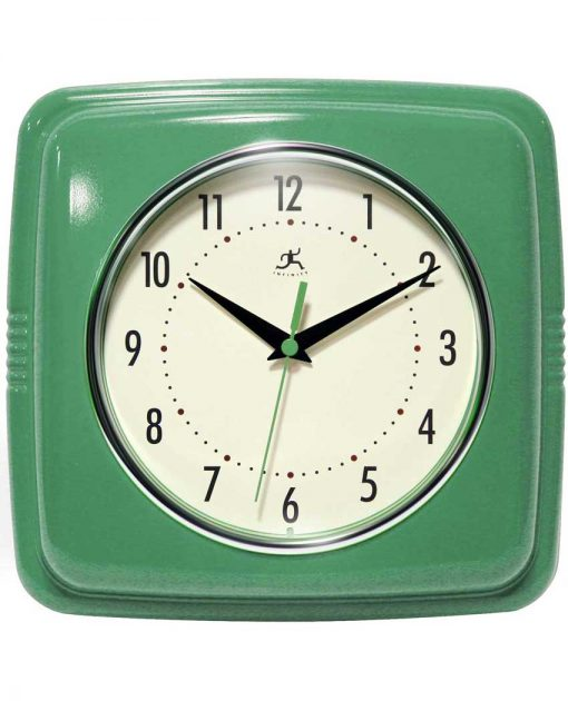retro green throwback wall clock