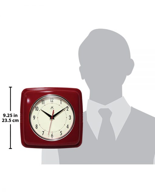 square red retro wall clock for scale 9 inch