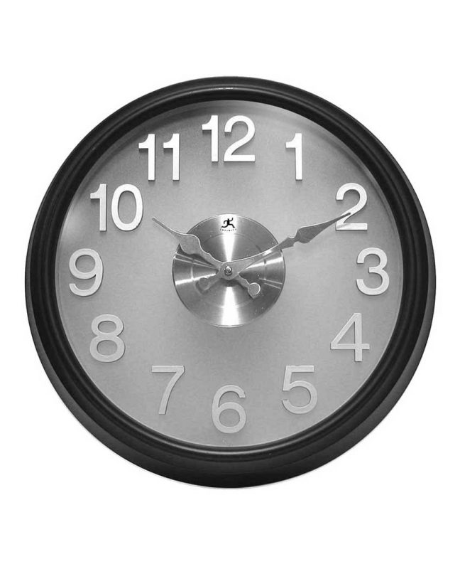 15 inch The Onyx; a Black Resin Wall Clock