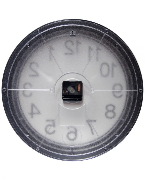 back of onyx wall clock 15 inch