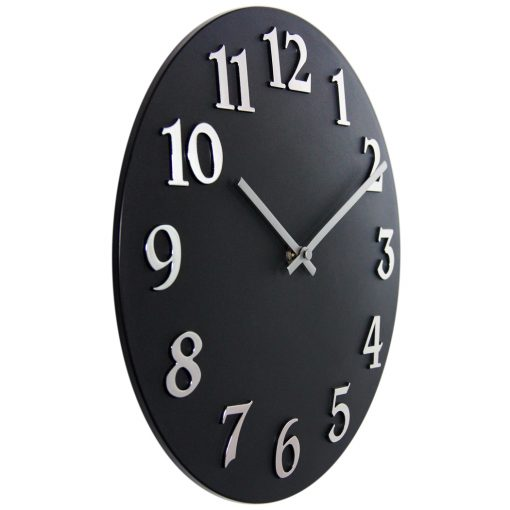 from right side black resin wall clock 12 inch
