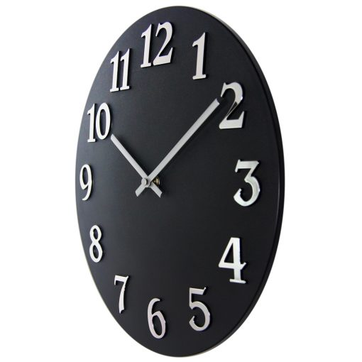 from left side vogue black wall clock 12 inch
