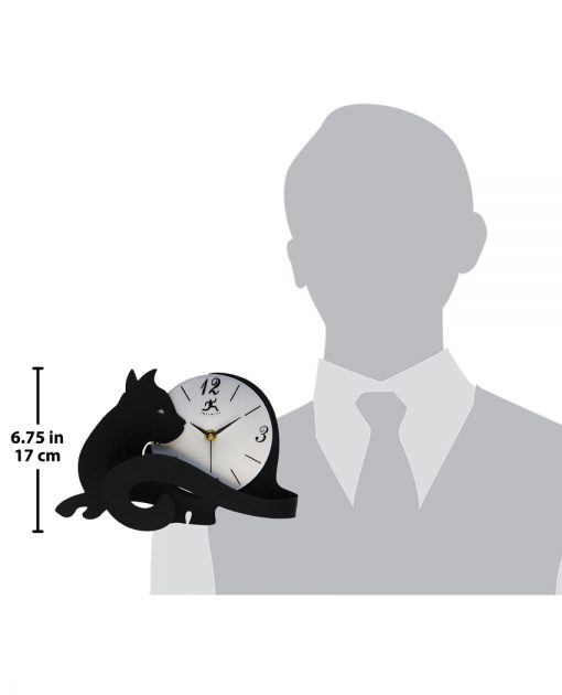 cat lovers clock for scale 7 inch cat clock