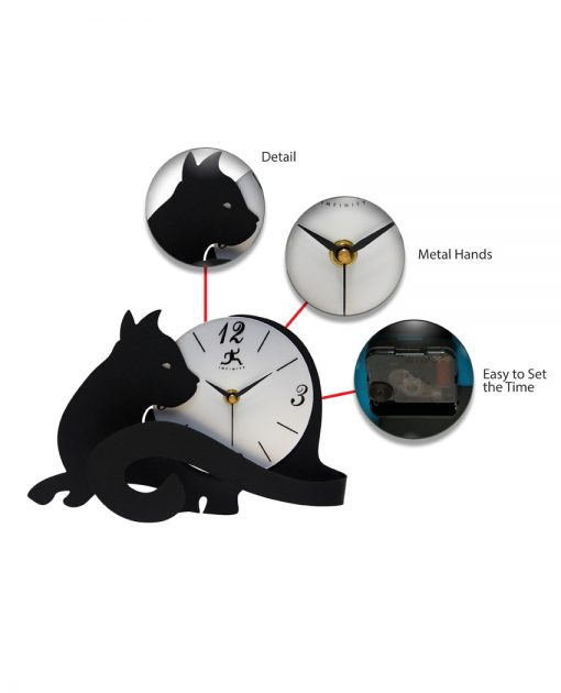 features of cat lovers clock 7 inch