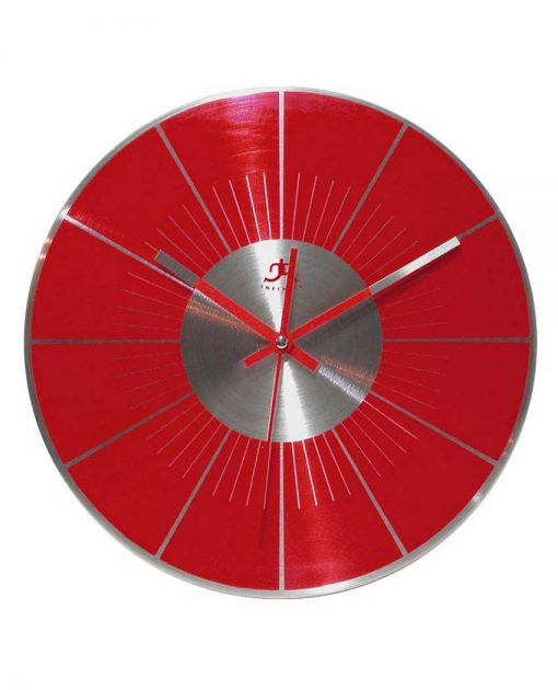 12 inch Red L.P.; a Red Aluminum Wall Clock