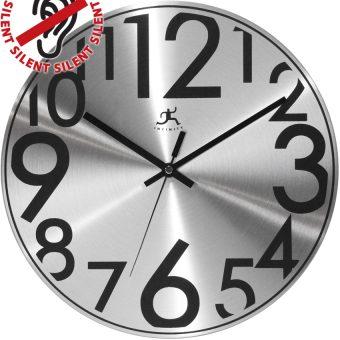 12 inch Silver Twinkle Aluminium Wall Clock