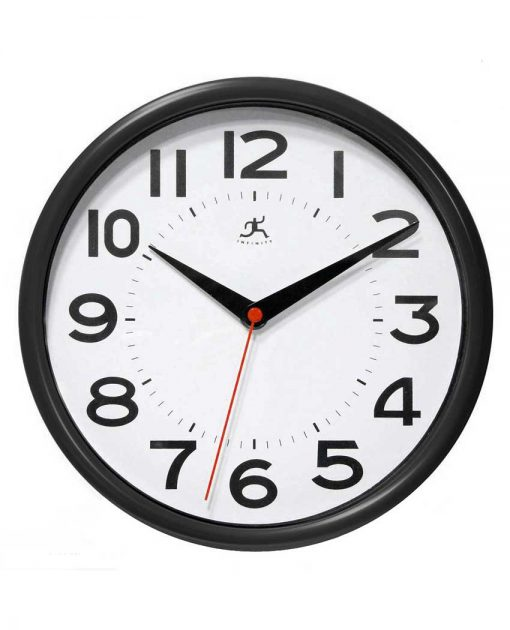 14220BK-3364-Metro wall clock black