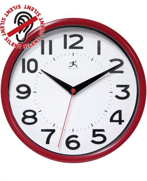 metro red wall clock