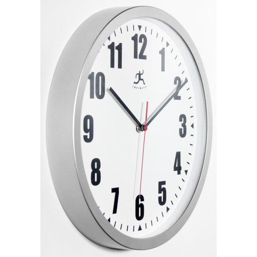 from right side silver office wall clock 12 inch