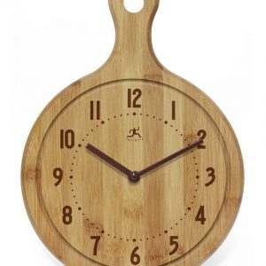 12.75 inch Chef Bamboo Cutting Board Wall Clock