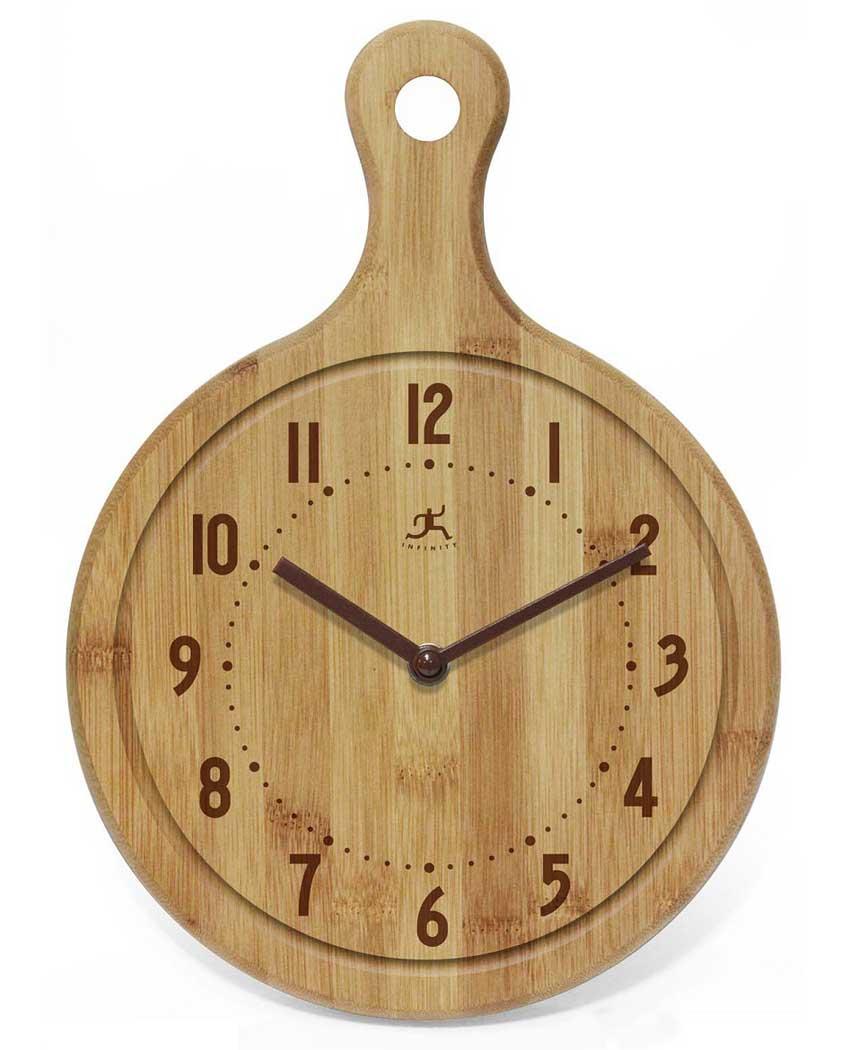 12.75 inch Chef Bamboo Cutting Board Wall Clock