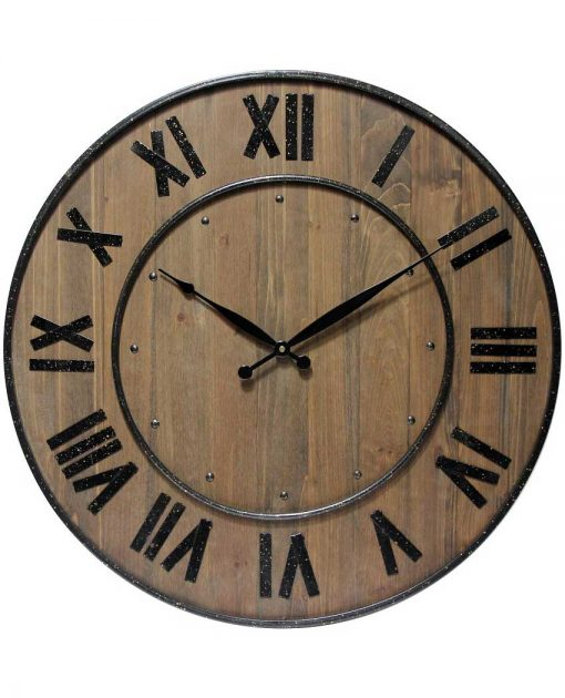 large wall clocks wood barrel