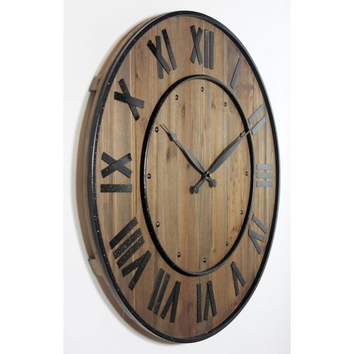 from right side wine barrel brown wall clock 23 inch