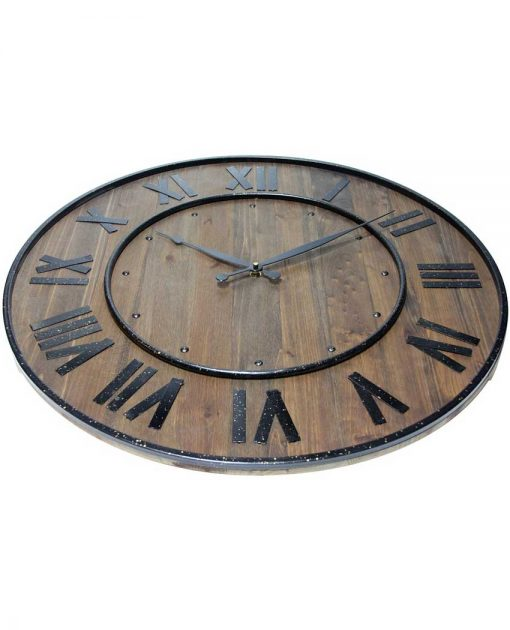 decorative wine barrel wooden wall clock
