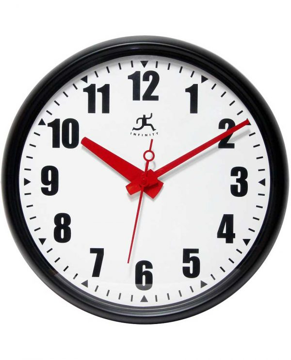 15 inch Impact; a Black Resin Wall Clock