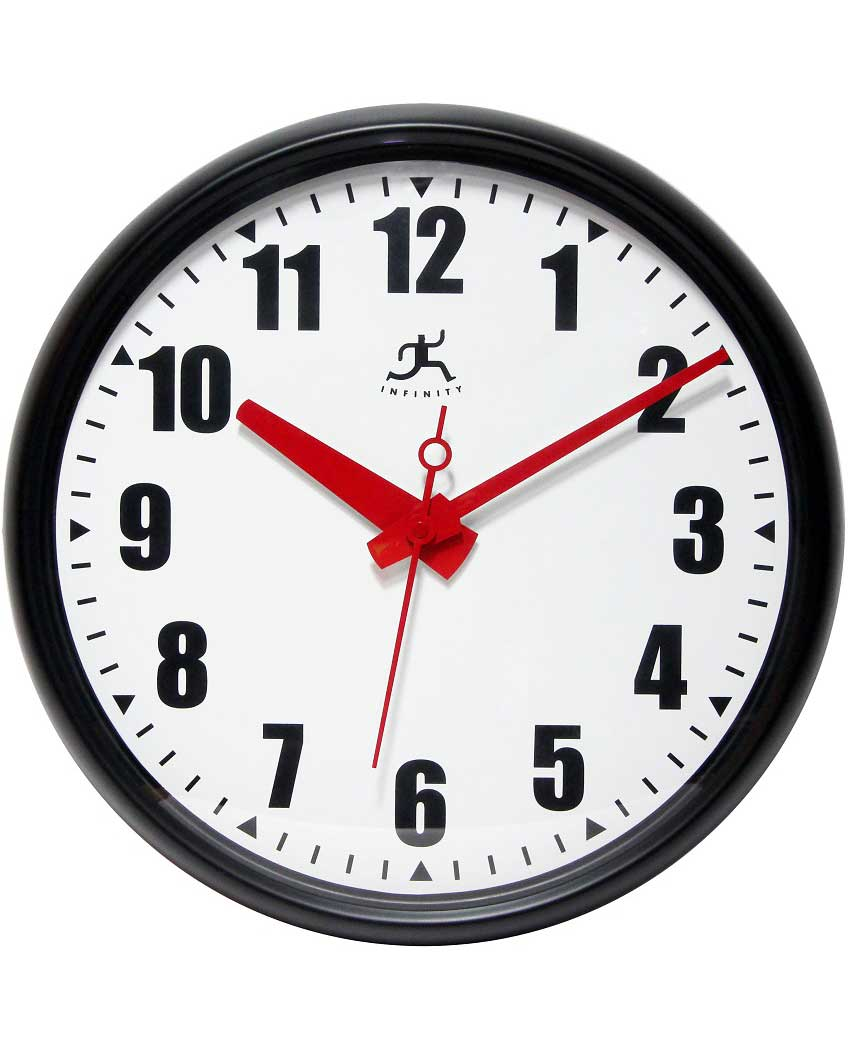 15 inch Impact; a Black Resin Wall Clock