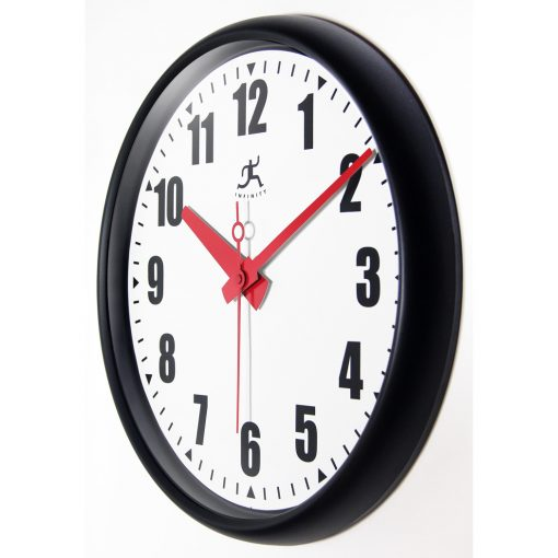 from left side black impact wall clock 15 inch