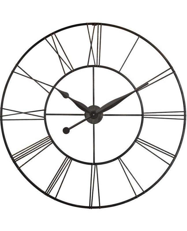 45 inch Skyscraper XXL; a Black Steel Wall Clock
