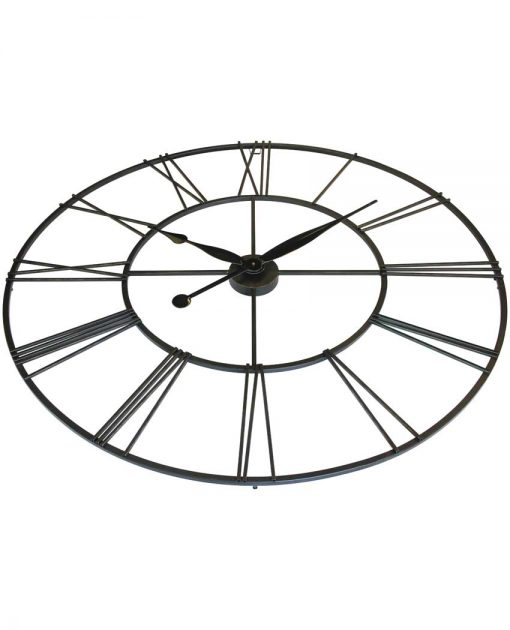 metal large extra large black steel wall clock 45 inch