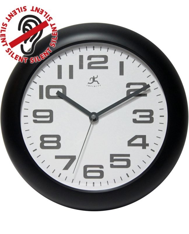 12 inch Clear Black Resin Wall Clock