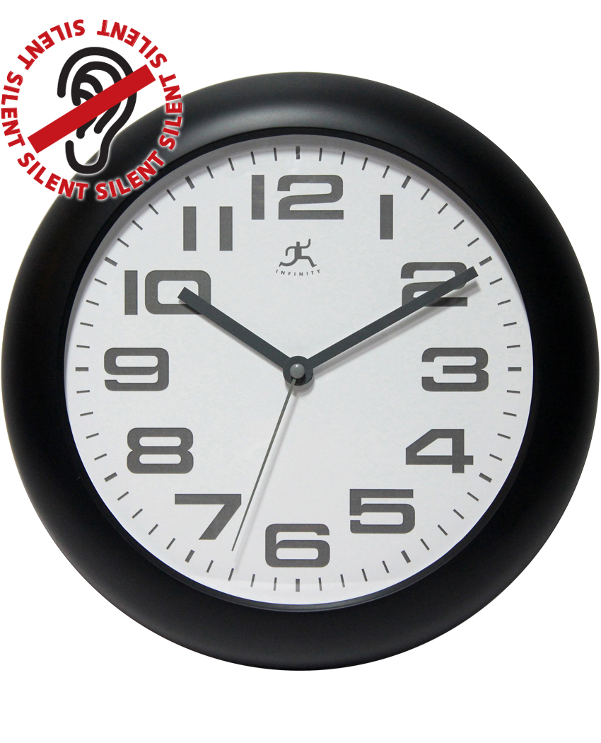 12 inch Clear Black Resin Wall Clock
