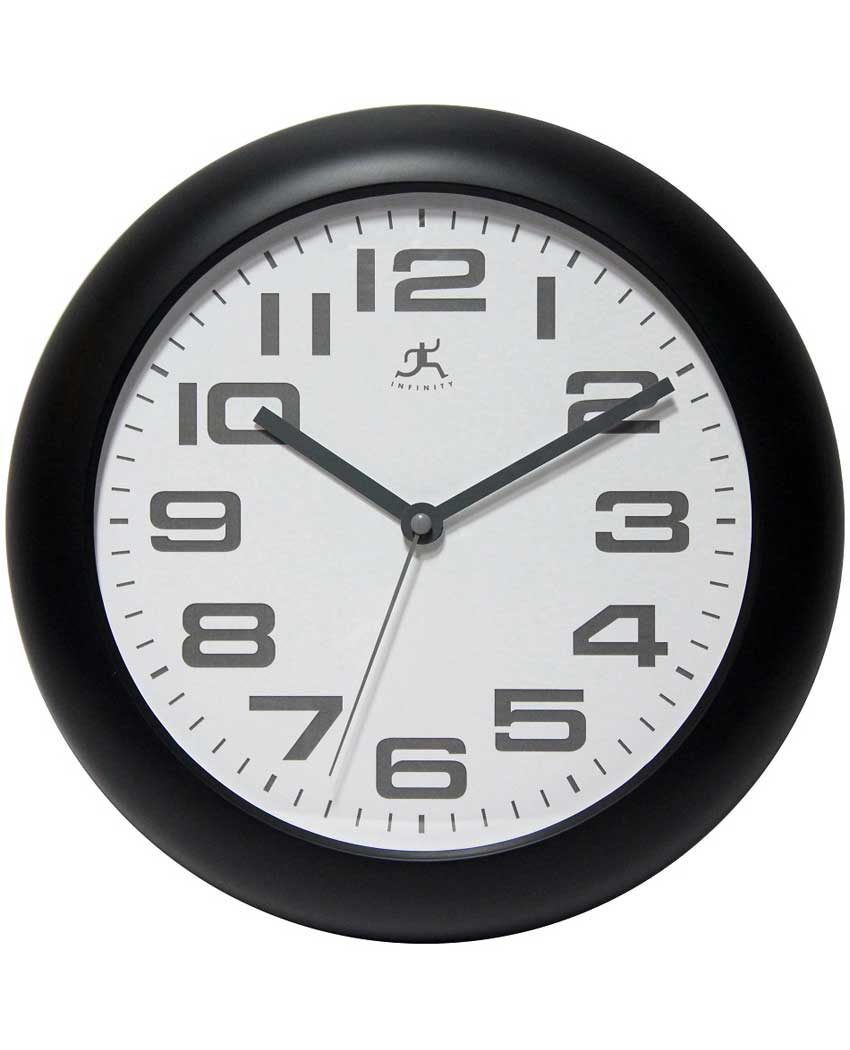 14761BK-3782 12 inch clear wall clock