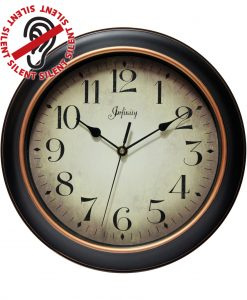 12 inch Precedent; a Black Resin Wall Clock