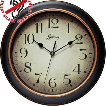 12 inch Precedent; a Black Resin Wall Clock