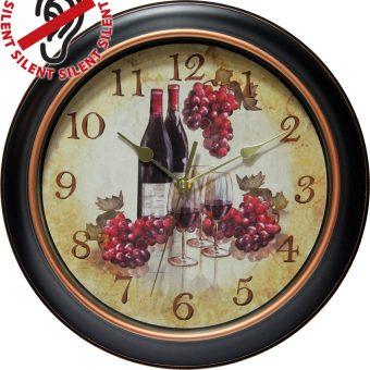 12 inch Pinot Black Resin Wall Clock